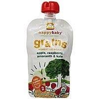 Amazon Deal: 3.5-Ounce Happy Baby Stage 2 Organic Home-Style Meals, Apples, Raspberries, Amaranth & Kale, (Pack of 16) - $5.67 w/S&S, (As Low As - $5.07)