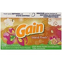 Amazon Deal: Gain With Freshlock Island Fresh Dryer Sheets, 80 Count (Pack of 3) - $8.02 w/S&S and coupon, (As Low As - $7.12)