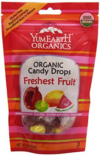 YumEarth Organic Freshest Fruit Drops, 3.3 Ounce Pouches (Pack of 6) - $6.38 w/S&S and coupon, (As Low As - $5.53)