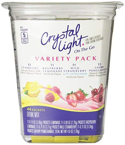 Crystal Light On The Go Drink Mix, Variety Pack, 44 Count - $5.44 w/S&S and coupon, (As Low As - $4.66)