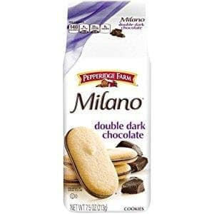 3-count of 7.5oz bag, Pepperidge Farm Milano Cookies, Double Dark Chocolate - $6.25 w/S&S and coupon,  (As Low As - $5.36)
