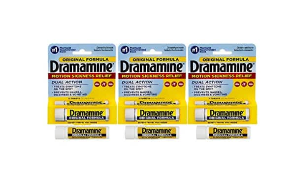 12 Count, Dramamine Original Formula Motion Sickness Relief, (Pack of 3) - $3.57 w/S&S and coupon, (As low As - $2.99)
