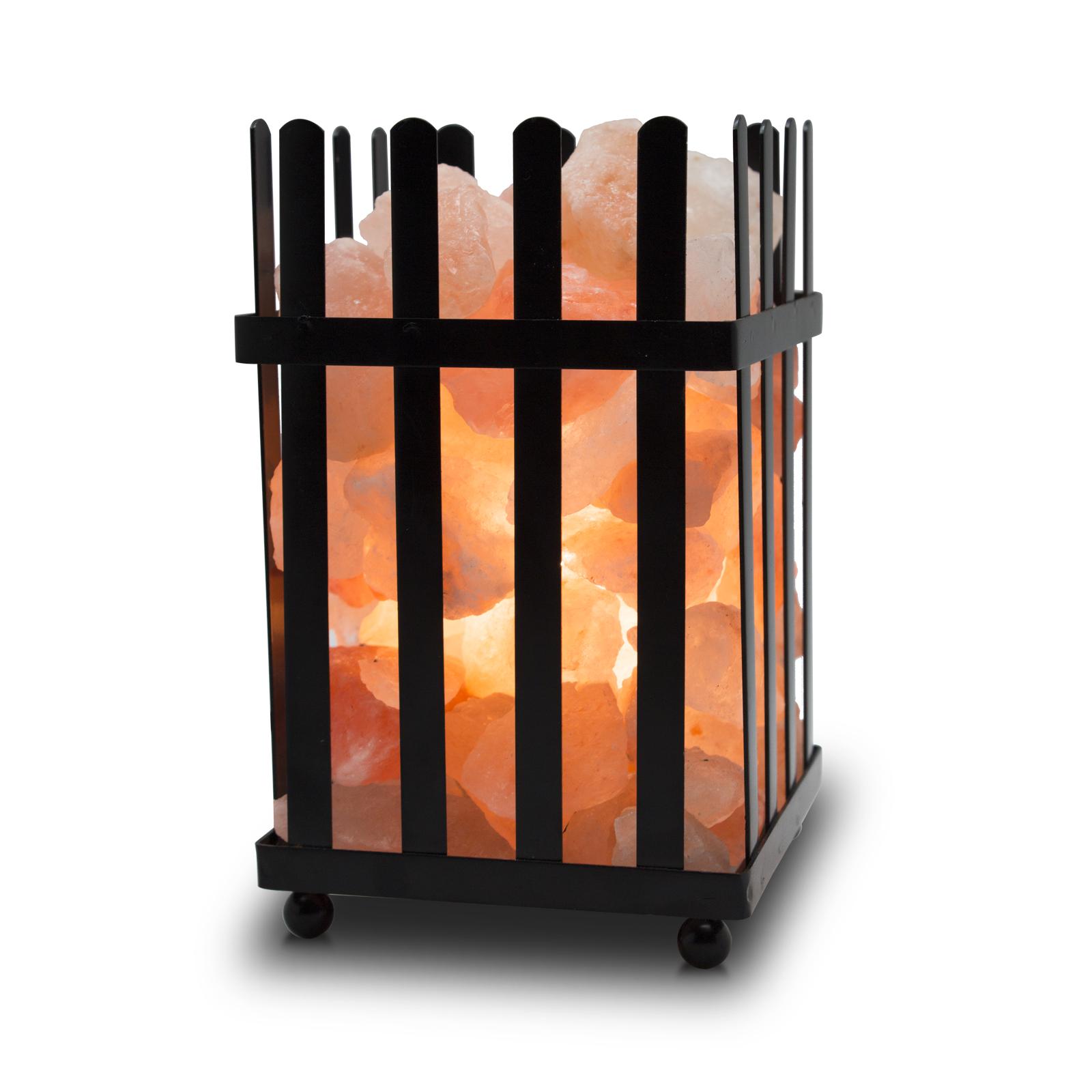 PRICE DROP Himalayan Glow Natural Salt Picket Fence Basket Lamp (5-7 lbs) - $4.47 Walmart, (free store pickup) and others
