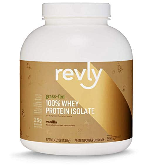 4.03 lbs (59 Servings), Revly 100% Grass-Fed Whey Protein Isolate Powder, Vanilla - $22.23 w/S&S, (As Low As - $19.89)