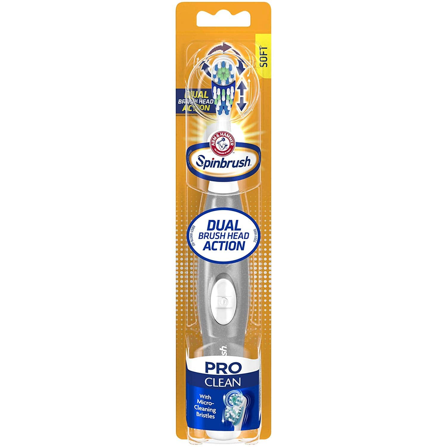 Arm & Hammer Spinbrush Pro Series Daily Clean Battery Toothbrush, Soft - $3.32 w/S&S, (As Low As - $2.97)