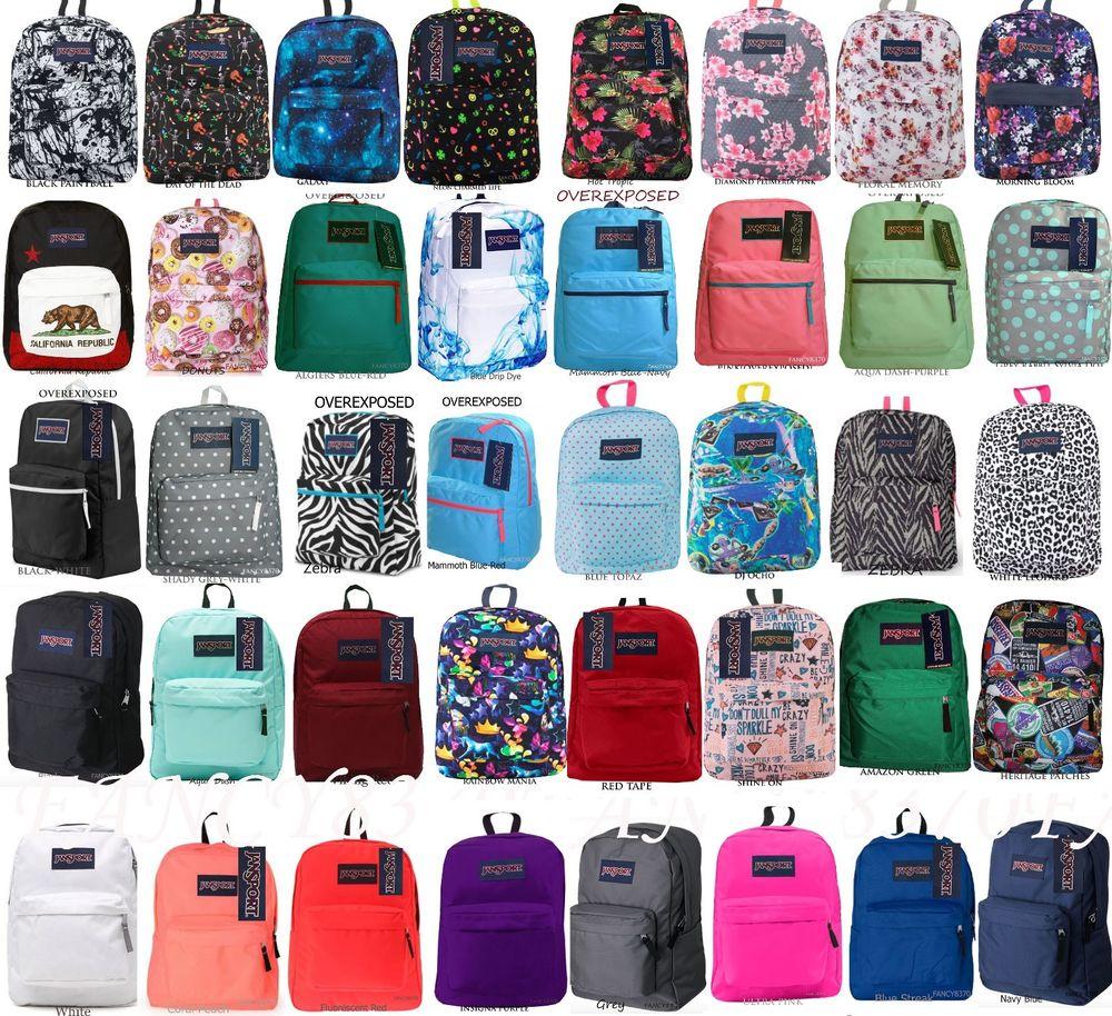 JANSPORT SUPERBREAK BACKPACK 100% AUTHENTIC SCHOOL BAG 7d627dd55ef2f