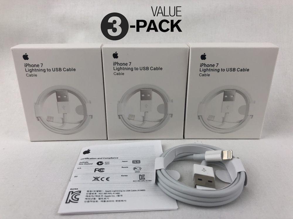 info for 7b365 ba190 3X Genuine Original OEM Apple iPhone MD818ZM/A Lightning USB Cable ...