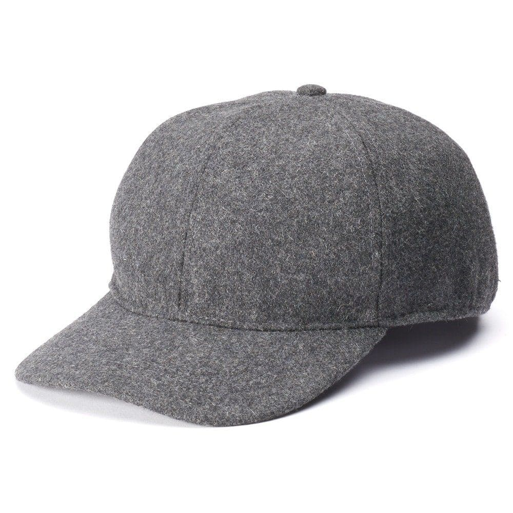 9043dd51aa647 Men s Wool Blend Charcoal Grey Winter Baseball Cap w  Inner Drop Down Ear  Flaps  9.99 Ebay  10