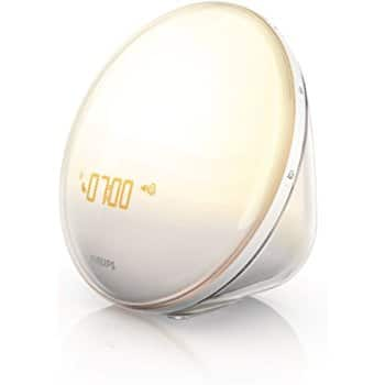 Philips Wake-Up Light with Colored Sunrise Simulation, White HF3520; $84.79 with free shipping