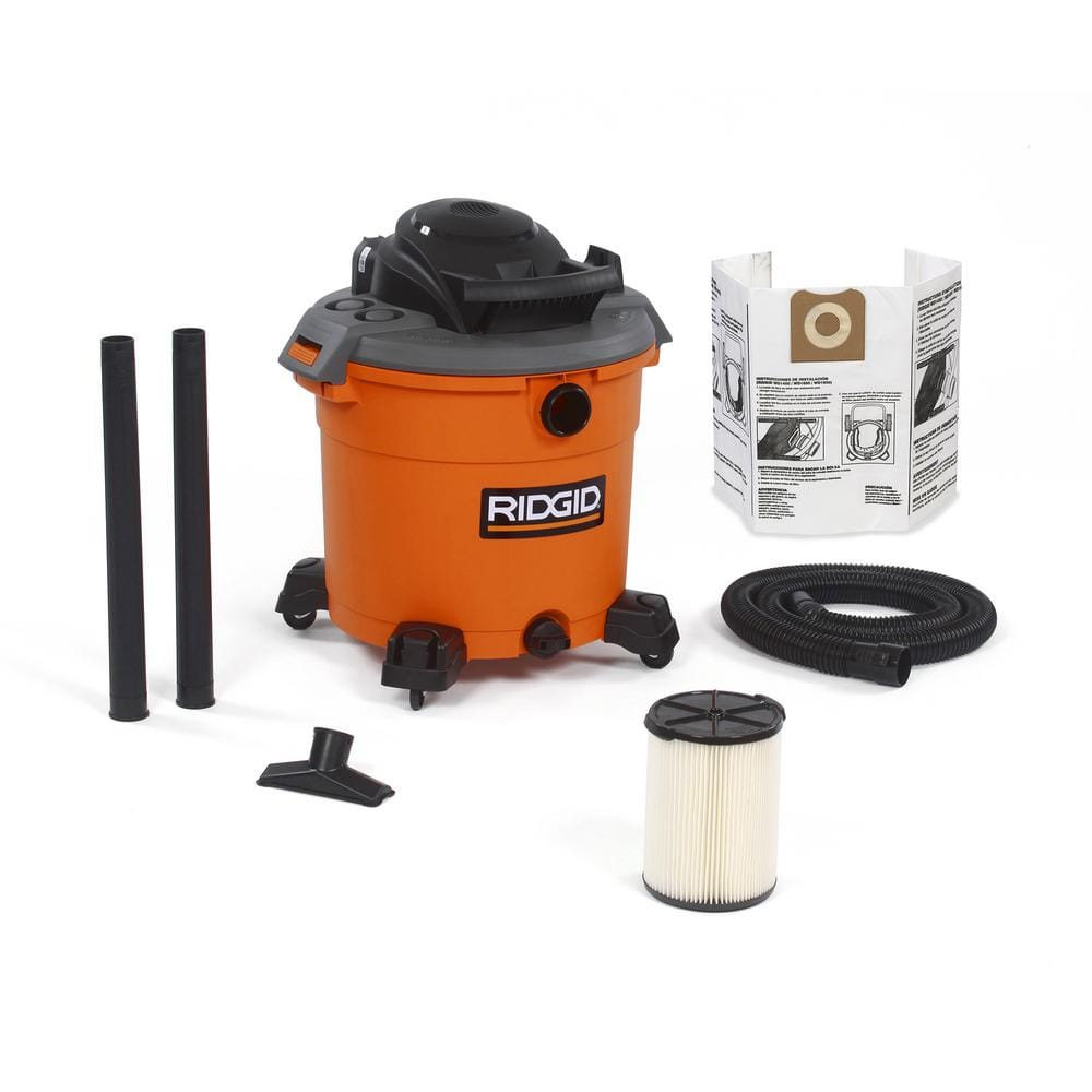 YMMV RIDGID 16 Gal. 5.0-Peak HP Wet/Dry Shop Vacuum with Filter, Dust Bag, Hose and Accessories-WD1641 - The Home Depot $24.70