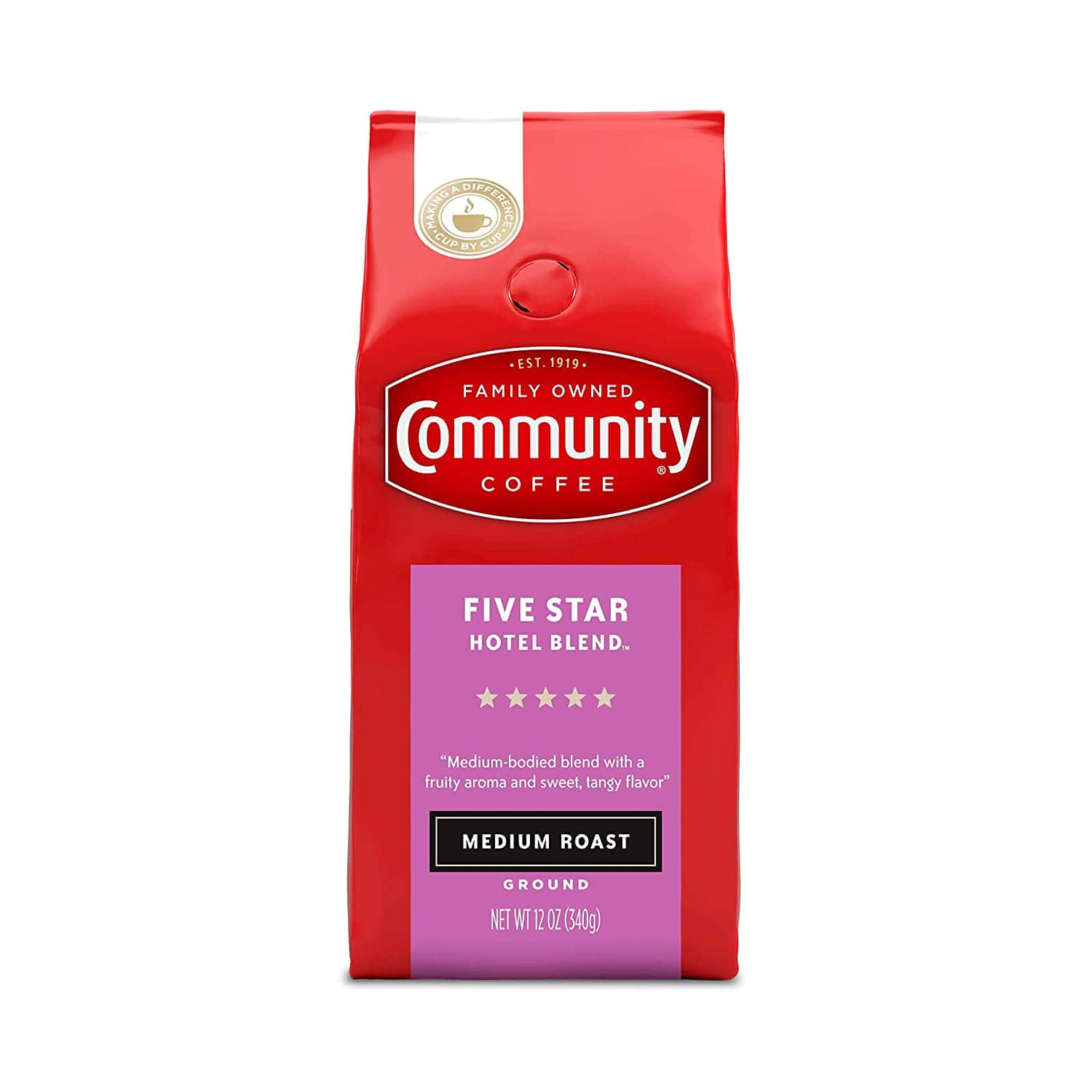 12-Oz Community Coffee Five Star Hotel Blend (Medium Roast Coffee, Ground) $3.13 & More + Free Shipping w/ Prime or $25+