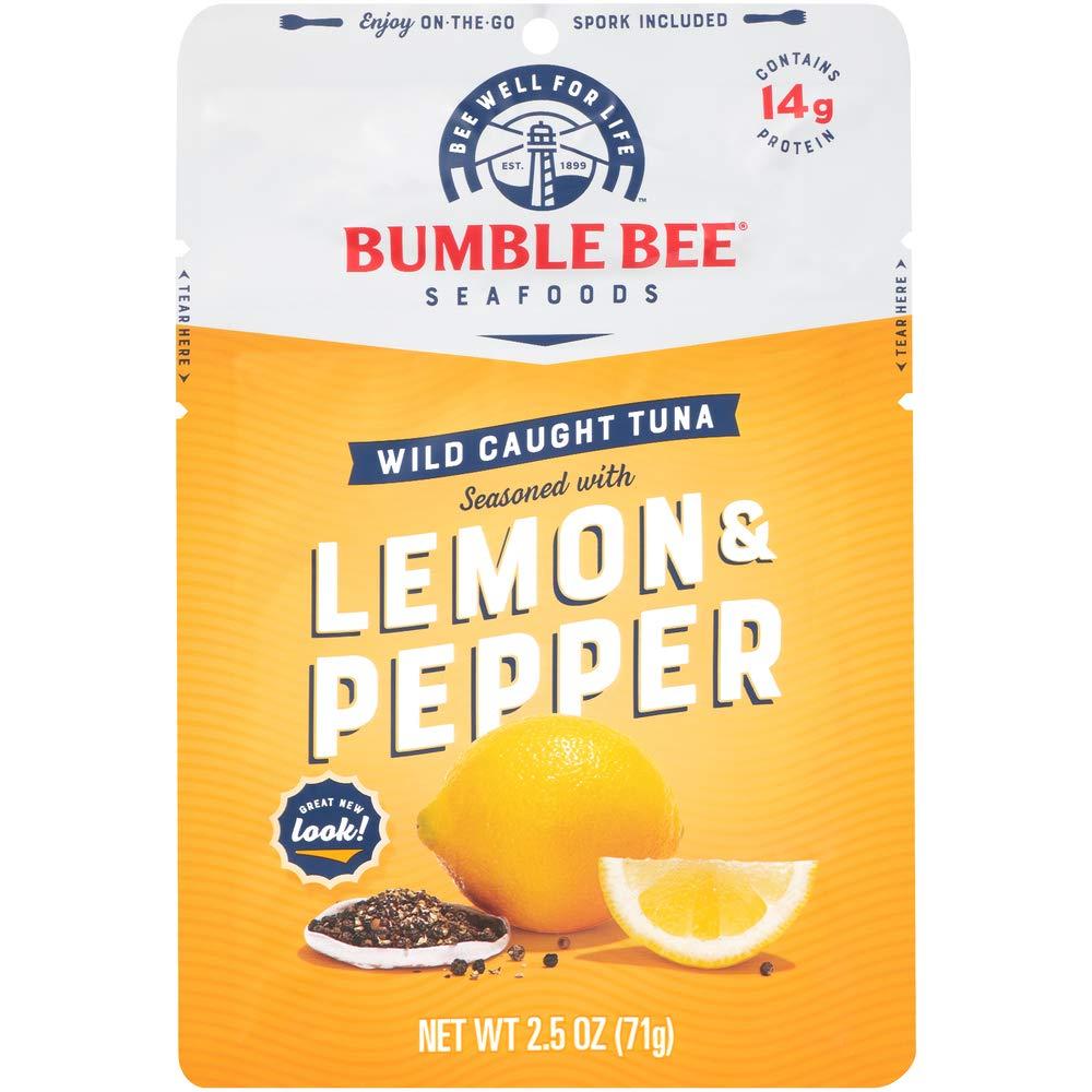 12-Pack 2.5-Oz Bumble Bee Wild-Caught Tuna (Lemon & Pepper Seasoning) $9.65 w/ S&S + Free Shipping w/ Prime or $25+