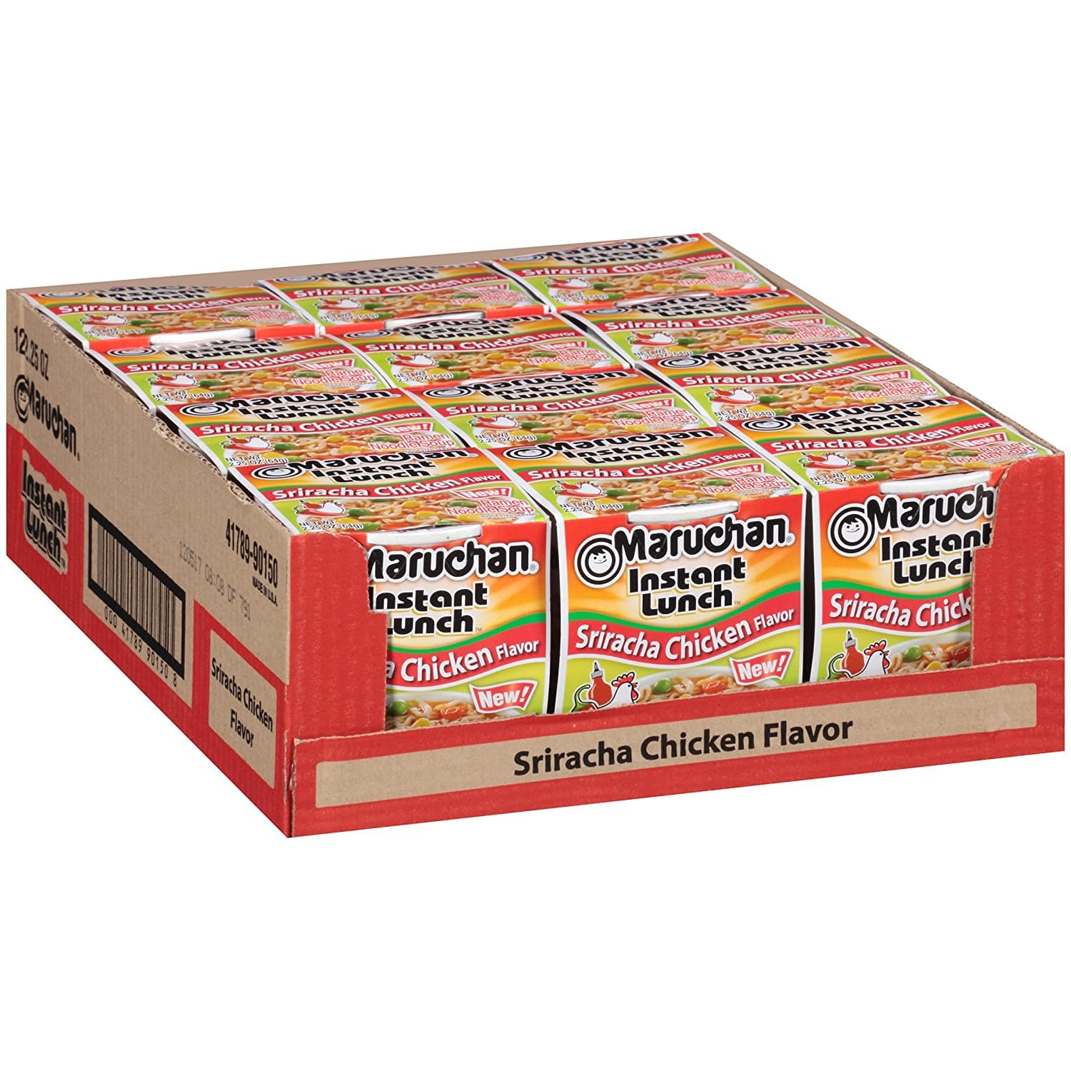 12-Pack 2.25-Oz Maruchan Instant Lunch (Sriracha Chicken) $4.45 + Free Shipping w/ Prime or $25+