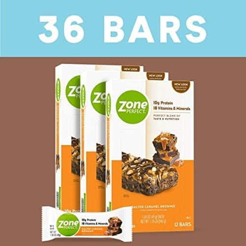 36-Count ZonePerfect Protein Bars (Salted Caramel Brownie) $20 w/ S&S + Free Shipping w/ Prime or $25