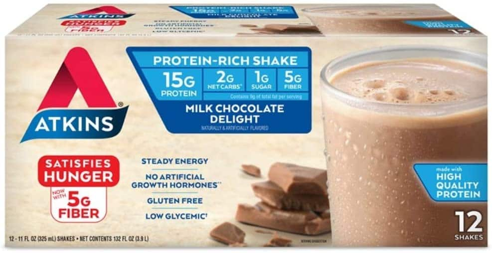 12-Count 11-Oz Atkins Gluten Free Protein-Rich Shake (Milk Chocolate) $11.15 w/ S&S + Free Shipping w/ Prime or $25+