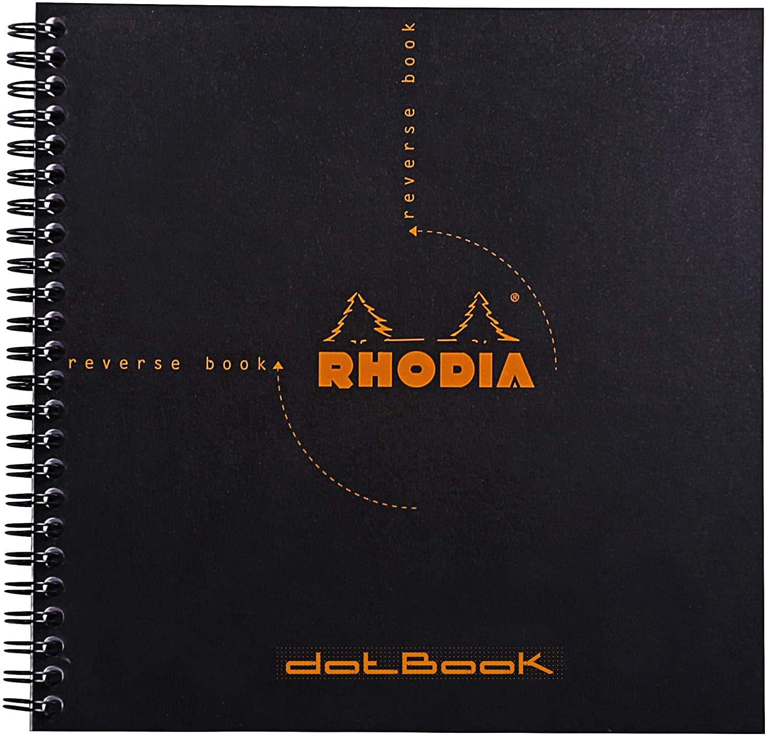 """8.25"""" x 8.25"""" Rhodia Wire-bound Reverse Dot Book (Black) $5 at Michaels w/ Free Curbside Pickup"""