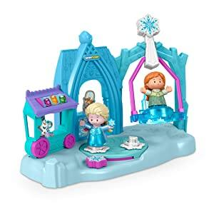 Fisher-Price Little People Disney Frozen Arendelle Winter Wonderland Doll Playset w/ Anna & Elsa Figures $10 + Free Shipping w/ Prime or $25+