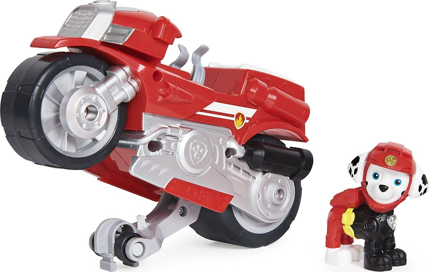 Paw Patrol Moto Pups Marshall's Deluxe Pull Back Motorcycle w/ Wheelie Feature and Figurine $6 + Free S&H w/ Prime or $25+