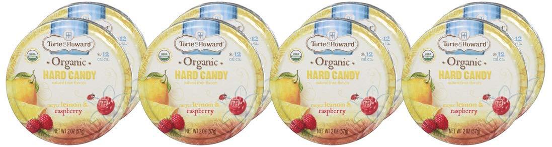 8-Pack 2-Oz Torie & Howard Organic Hard Candy (Lemon & Raspberry) $6.50 w/ S&S + Free S&H w/ Prime or $25+