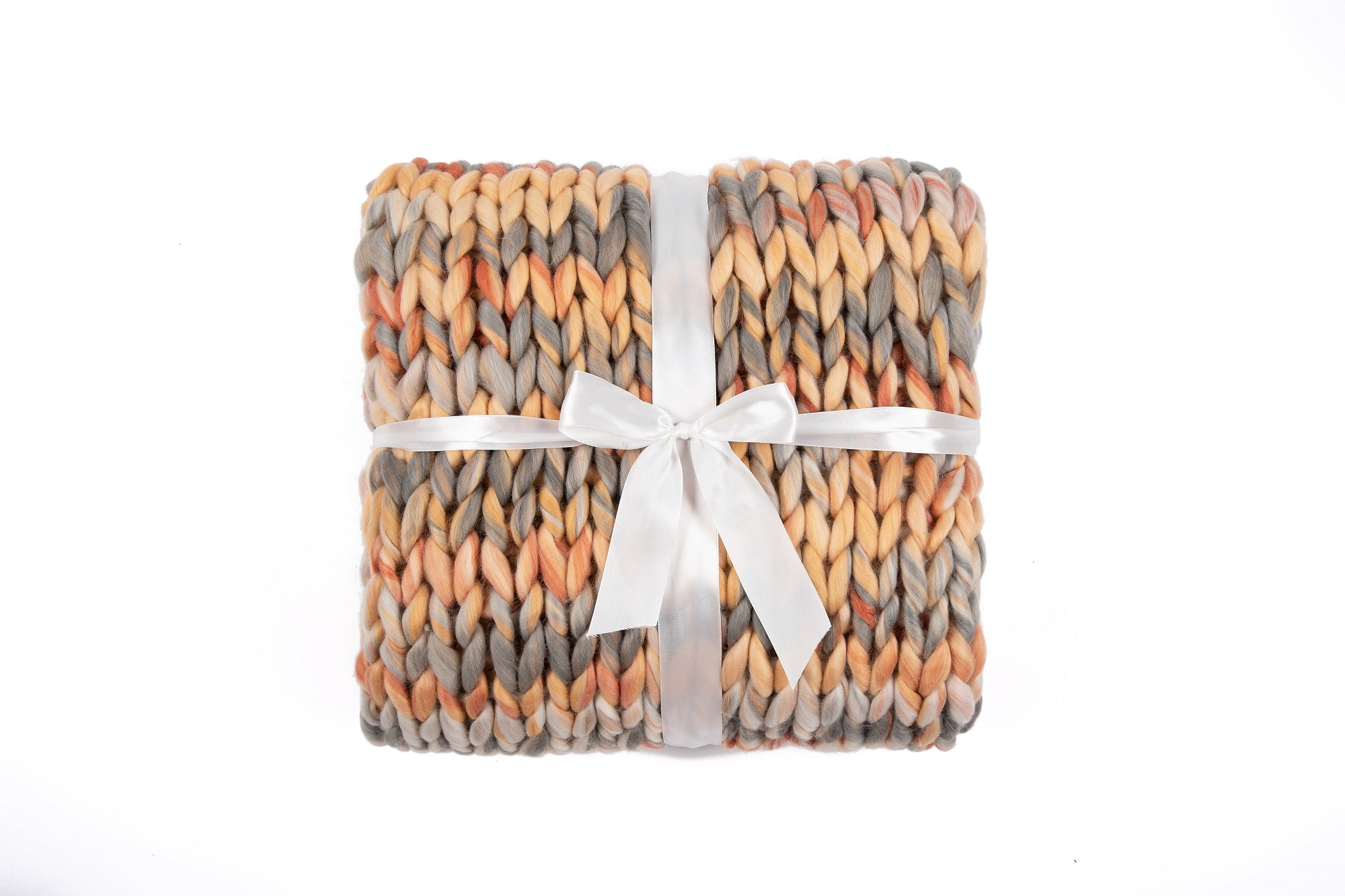 """50"""" x 60"""" Silver One Chunky Knitted Throw Blanket (Preppy Soft Hues) $8.80 + Free Shipping w/ Walmart+ or $35+"""
