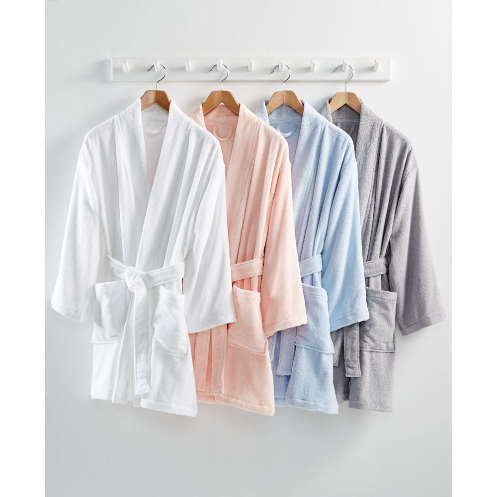 Martha Stewart 100% Cotton Terry Bathrobe (White) $24 or less w/ SD Cashback at Macy's w/ Free Store Pickup or FS w/ $25+