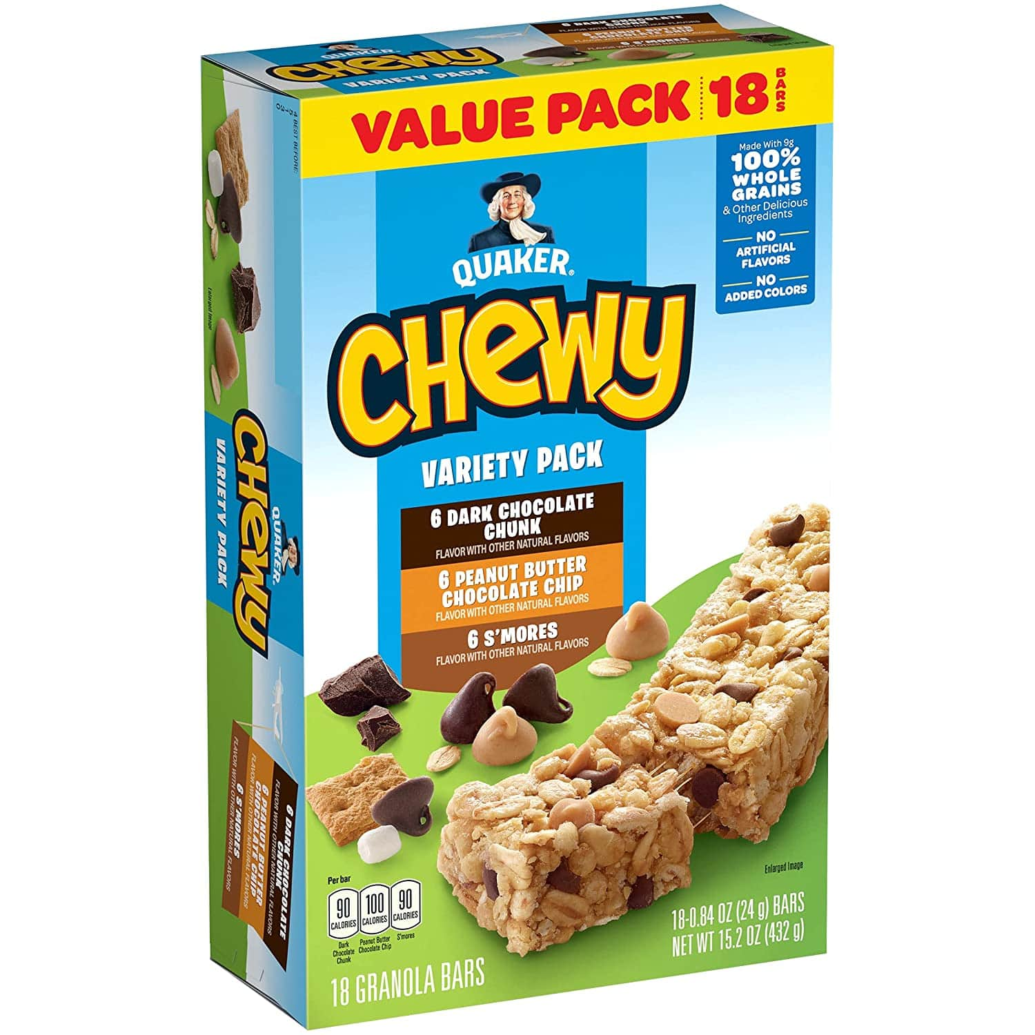 18-Count Quaker Chewy Granola Bars (Variety Pack-Chocolate) $2.80 w/ S&S + Free Shipping w/ Prime or $25+
