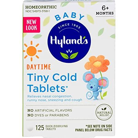 125-Count Hyland's Baby Tiny Cold Tablets (Relieves Nasal Congestion, Runny Nose, Sneezing, Cough) $3.25 + Free Shipping w/ Prime or $25+