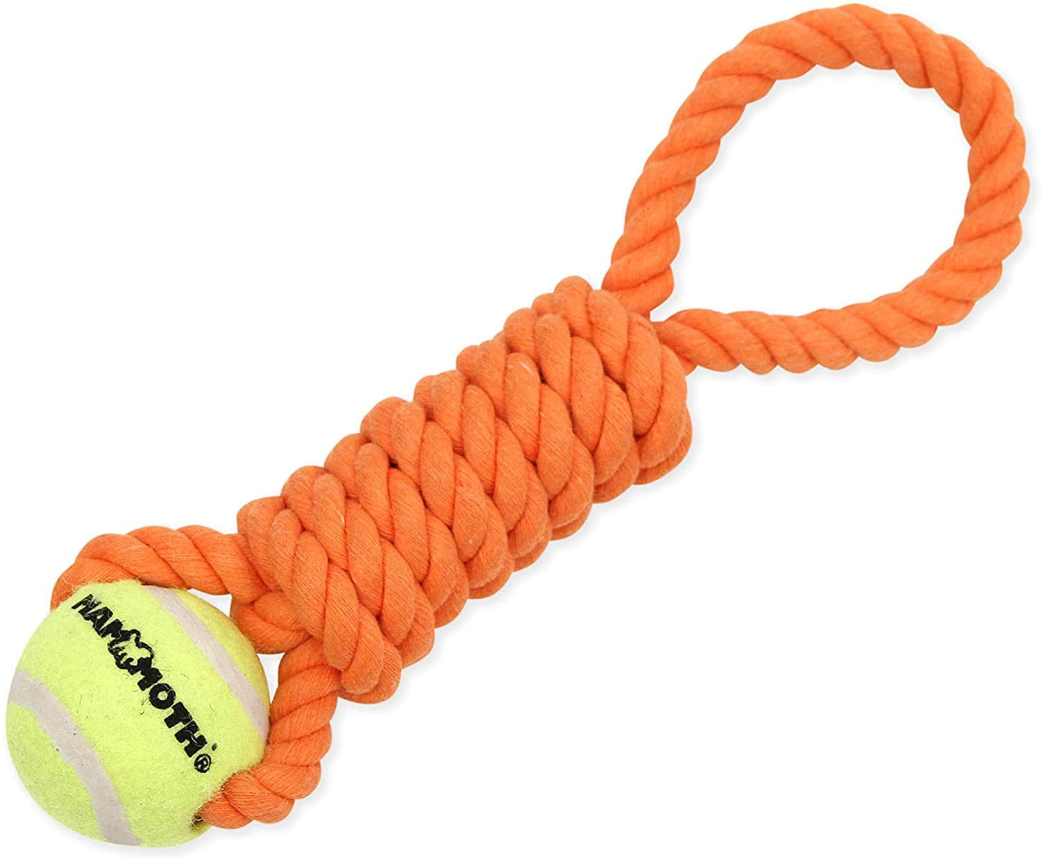 """Mammoth Flossy Chews Twister Dog Toy with Tennis Ball (Mini 11"""") $2.05 + Free Shipping w/ Prime or $25+"""