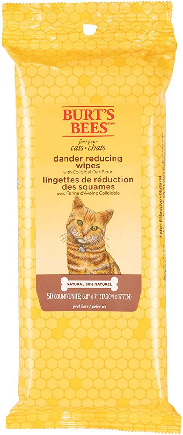 50-Count Burt's Bees for Cats Dander Reducing Wipes $2.20 w/ S&S + Free Shipping w/ Prime or $25+