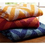 Pottery Barn: Large Chevron Throw Blanket $16.99 + FS (was $69)