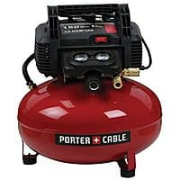"Amazon Deal: PORTER-CABLE 0.8-HP 6-Gallon 150-PSI 120-Volt Pancake Electric Air Compressor $99 Lowe's Amazon ""Best Price"""