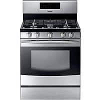 "Best Buy Deal: Samsung 30"" Stainless Steel Gas Range with Self-Cleaning Oven $595 + FS (Save $400)"