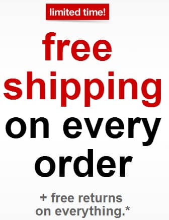 Target: FREE Shipping and FREE Returns on EVERY* Order 8/2 - 8/15