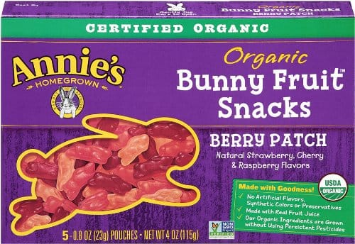 Annie's Organic Berry Patch Fruit Bunny Snacks (4 Packs of 5 Pouches) $7.65 + FS Amazon S&S