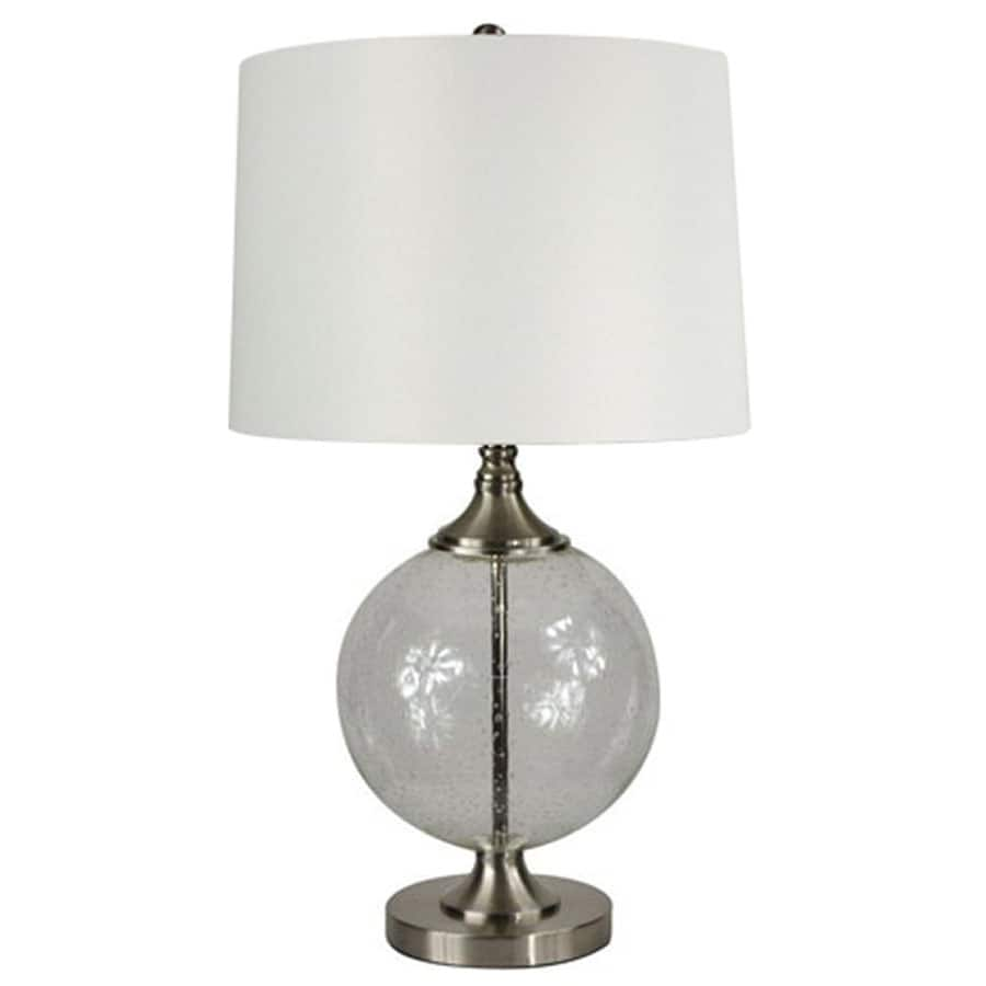 Lowes Table Lamps: Lowe's: Allen + Roth Brushed Nickel Table Lamp With Shade
