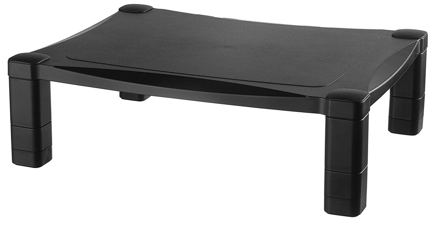 Kantek Height-Adjustable Monitor/Laptop Stand, Black  $14 + FS Amazon Prime Only