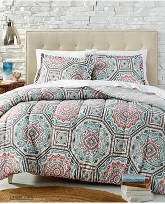 Nice Macy us Reversible Comforter Sets Twin Full Queen King