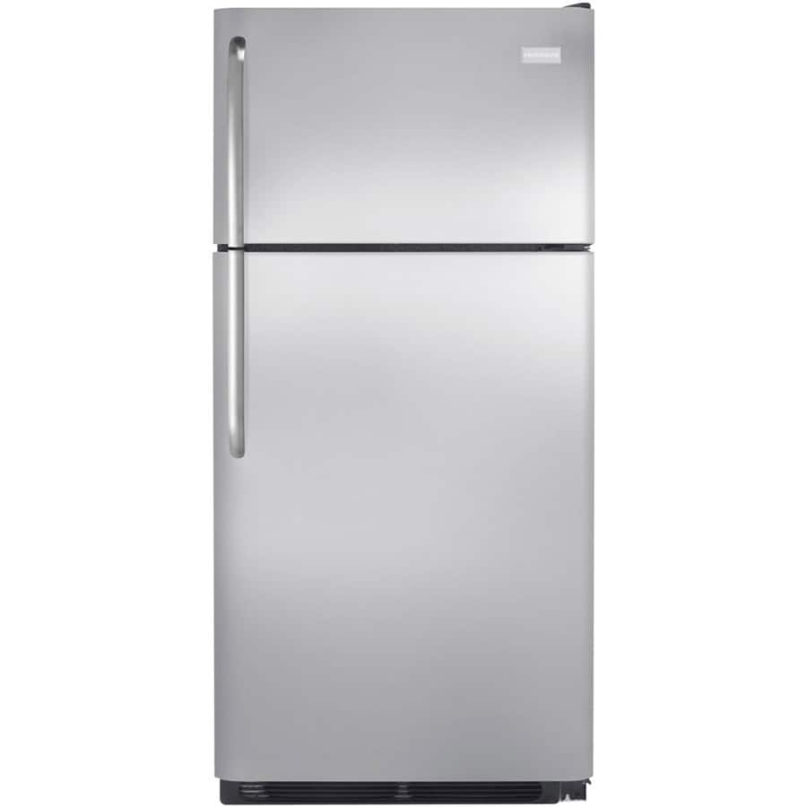 Lowe's: Frigidaire 18-cu ft Top-Freezer Refrigerator Stainless Steel $499 + Free Ice Maker + Free Delivery