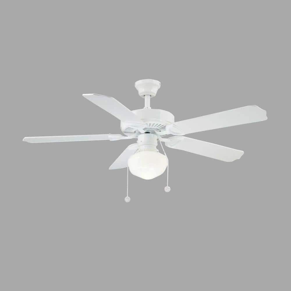 Home Depot: Trimount 52 in. Indoor White Ceiling Fan w/ Light $41 + Free Shipping