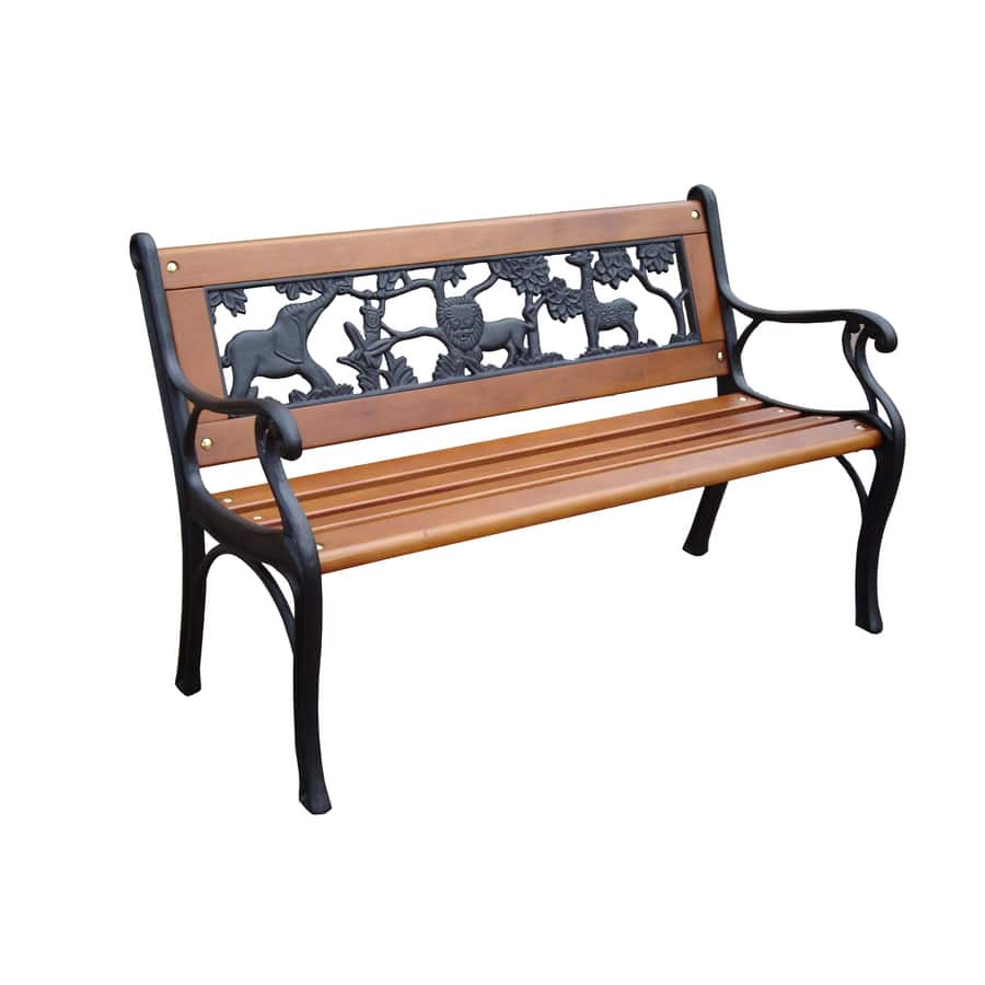 Lowe S Garden Treasures Kids Patio Bench 33 Quot L X 16 Quot W X