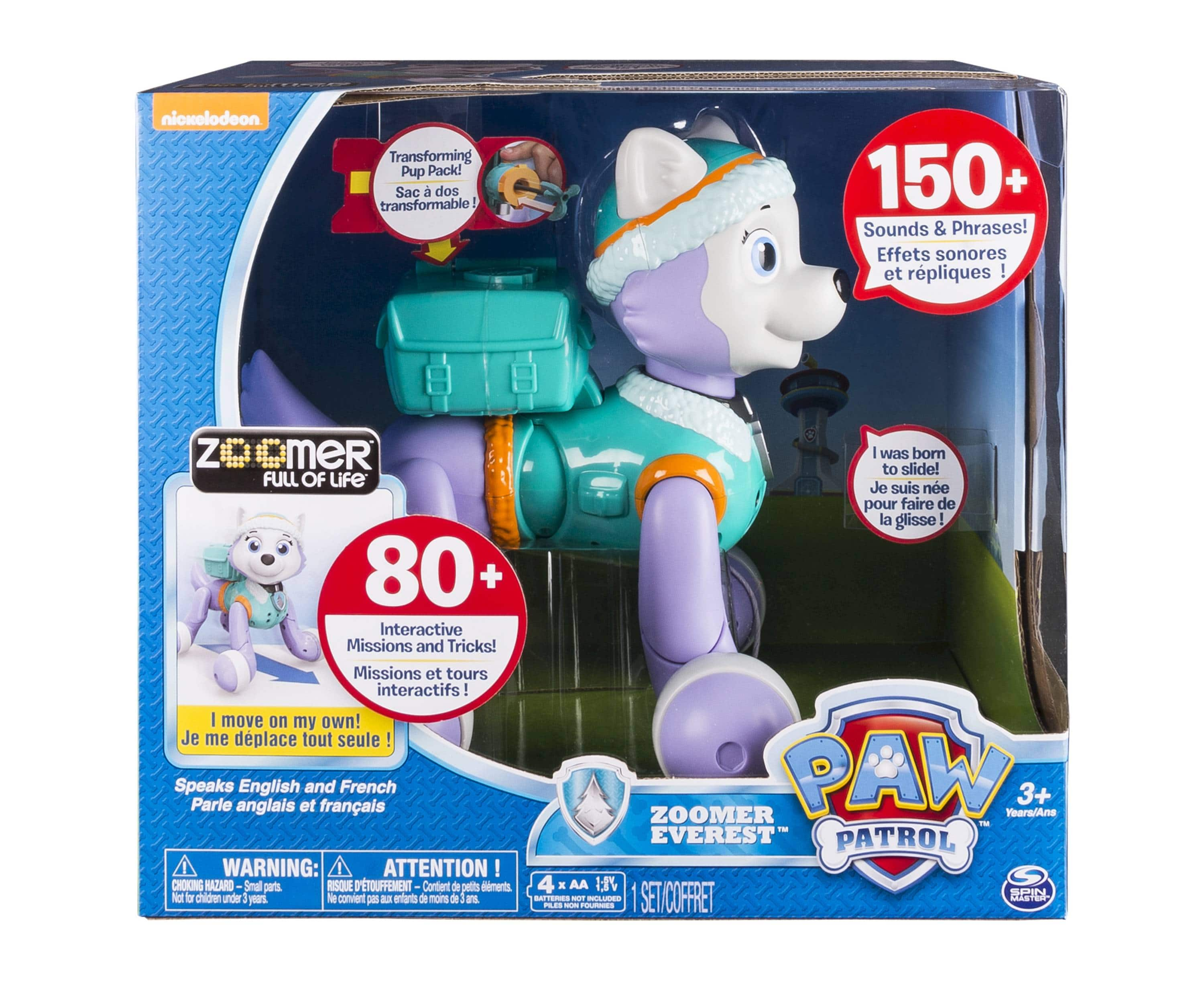 Target: Paw Patrol - Zoomer Everest, Interactive Pup with Missions, Sounds and Phrases $22