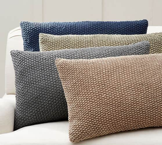 Pottery Barn: Linen Seed Stitch Lumbar Pillow Cover (Gray) $9.59+ Free Shipping (Save 80%)