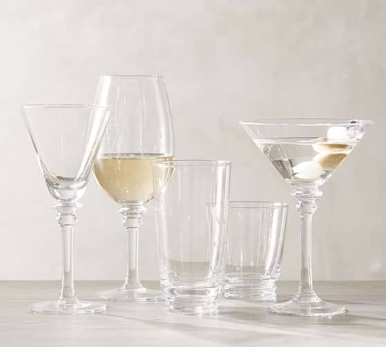 Pottery Barn: Arguello Goblet Glass, Set of 4 $15.99 + Free Shipping