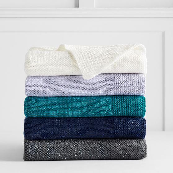 PBteen: Sparkle Knit Throw (Peacock Green) $18.74 + Free Shipping (Reg. $69)