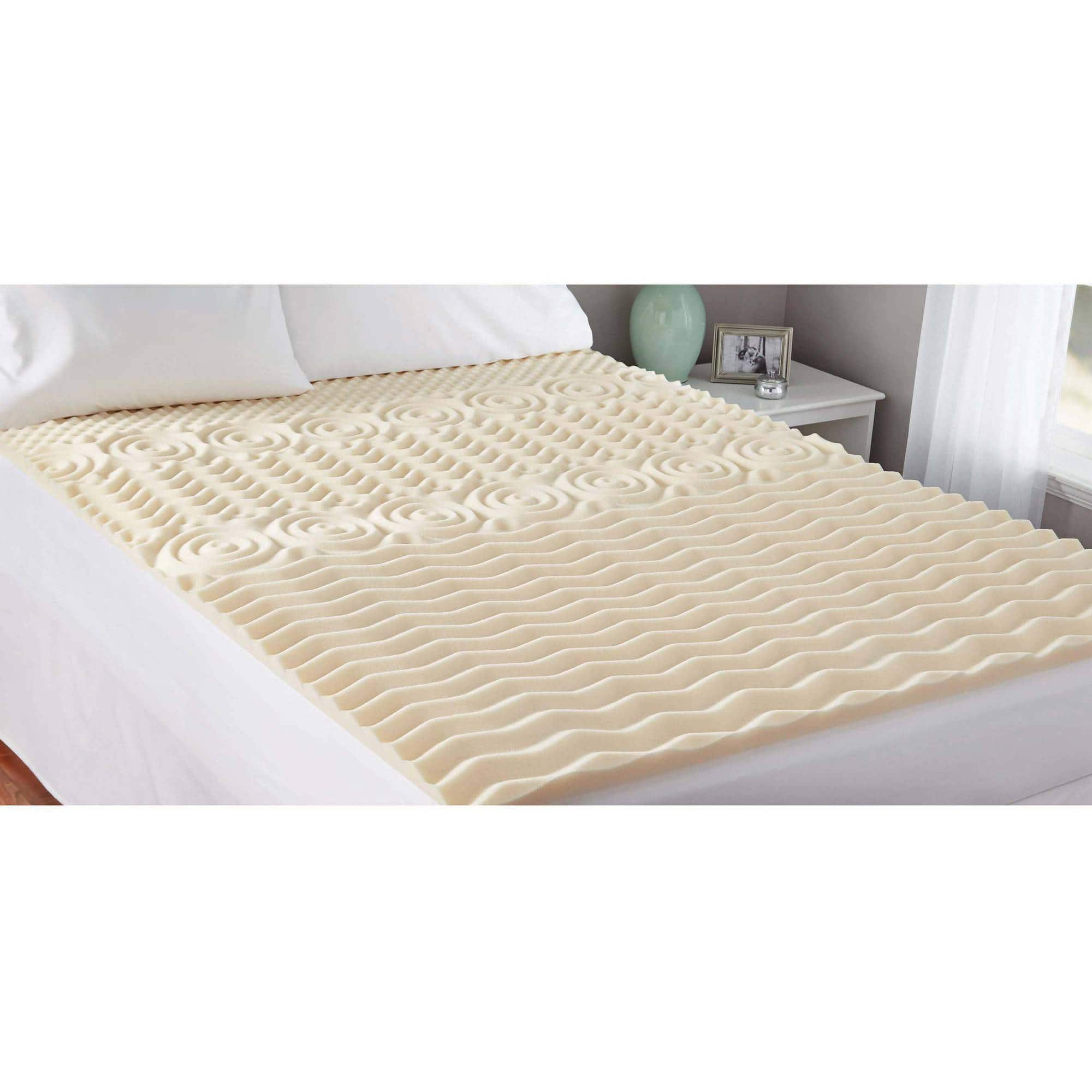 "Walmart: Mainstays 1.5"" Zoned Memory Foam Topper (Twin) $7"