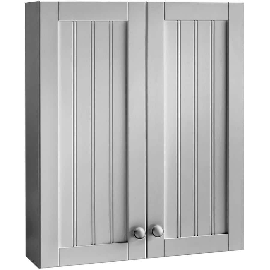 Lowe's: Style Selections Gray Bathroom Wall Cabinet $59