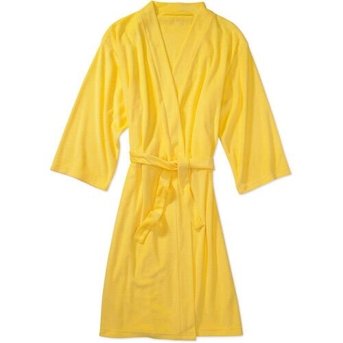 Walmart: Women's 3/4-Sleeve Lightweight Terry Robe (Yellow) $6