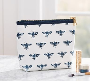 Pottery Barn: Bee Print Cosmetics Pouch $8 + Free Shipping