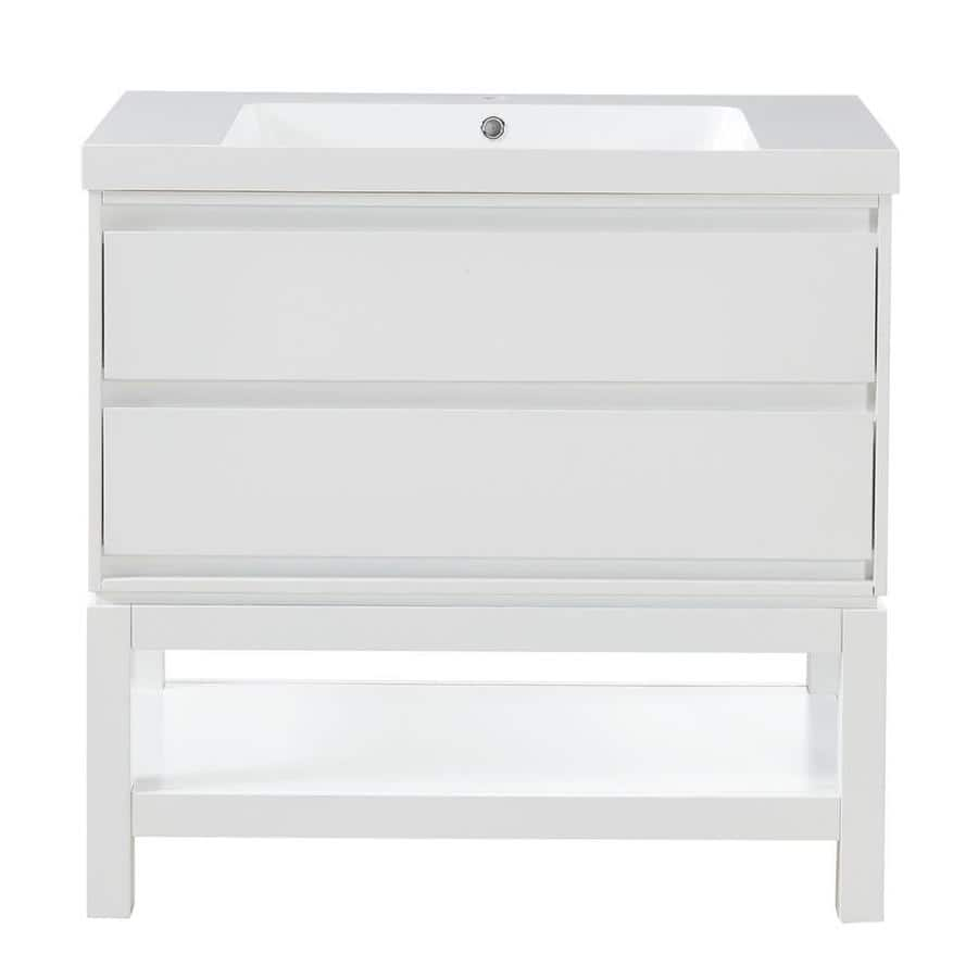 Lowe's: Scott Living Cayce White Sink Vanity $389 (Save 44%)