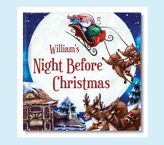 Night Before Christmas Personalized Book (Boy / Brunette)  $19.99 + Free Shipping
